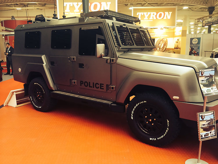 Tyron, runflat, tyres, military, police, vehicles