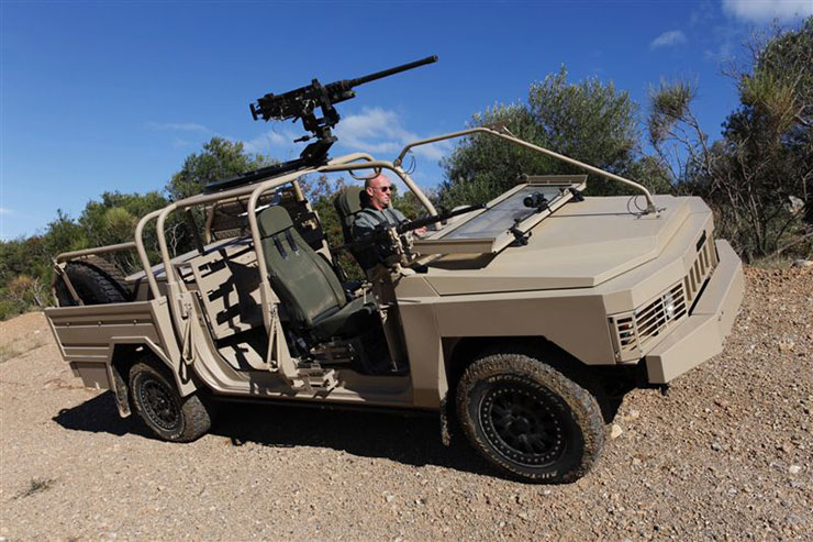 ALTV (Acmat Light Tactical Vehicle) Torpedo 4×4 lightweight multi-role vehicle fitted with Tyron ATR Runflats.