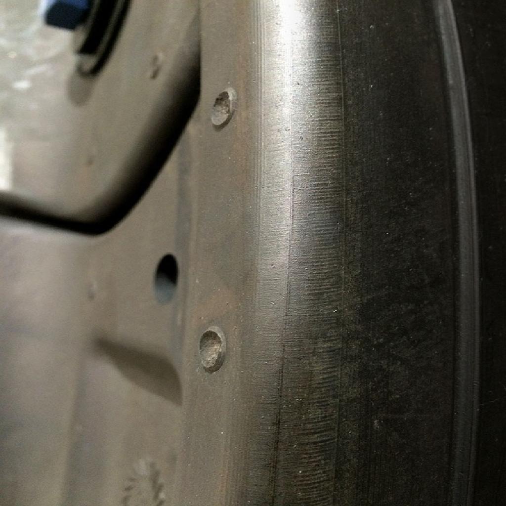 Rubber Tyron Runflat close up